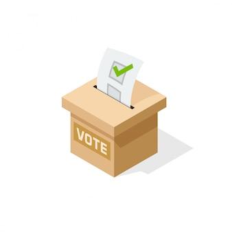 Ilustración de caja de votación