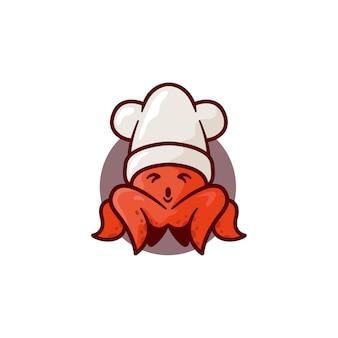 Ilustración de calamar lindo
