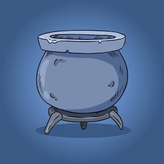 Ilustración de caldero mágico