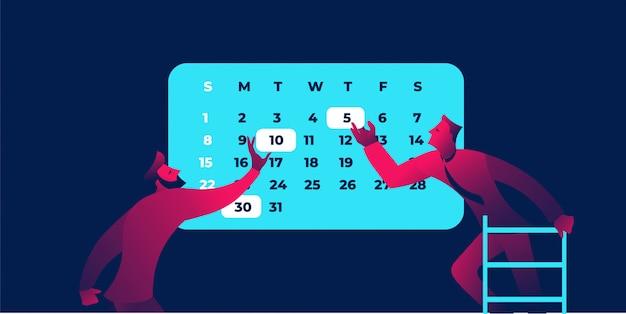 Ilustración de calendario empresarial