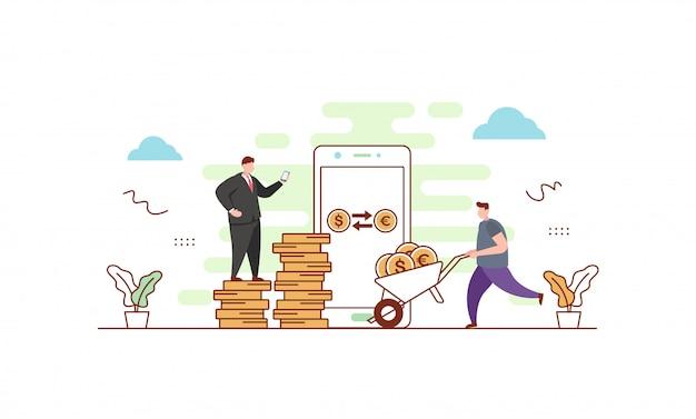 Ilustración de cambio de moneda