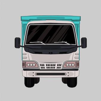 Ilustración camión blanco