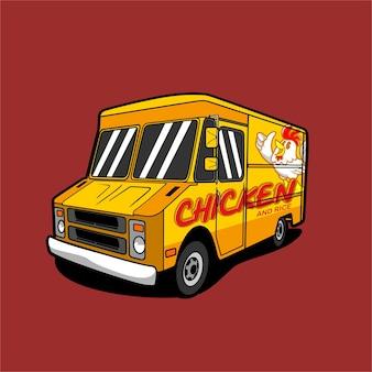 Ilustración de camión de comida