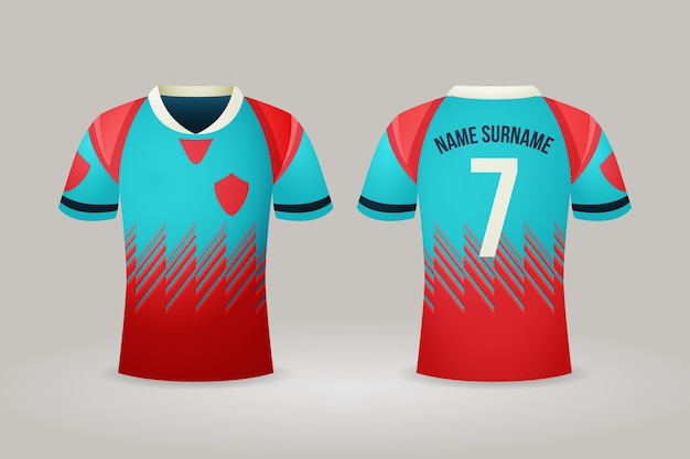Ilustración de camiseta de fútbol