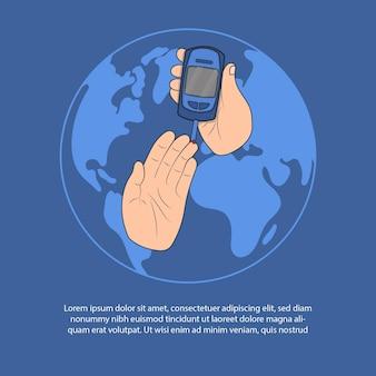 Ilustración de la campaña de alerta de diabetes.