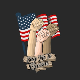 Ilustración de la campaña américa no racismo