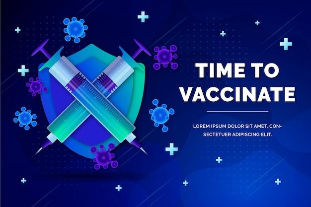 Ilustración de campaña de vacunación gradiente