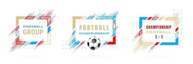 Ilustración de campeonato de fútbol de copa de fútbol