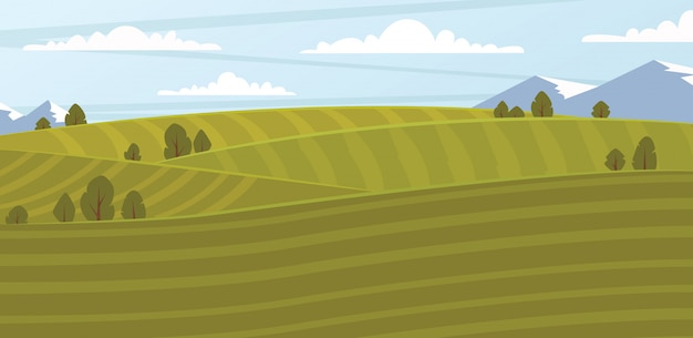 Ilustración de campo de granja