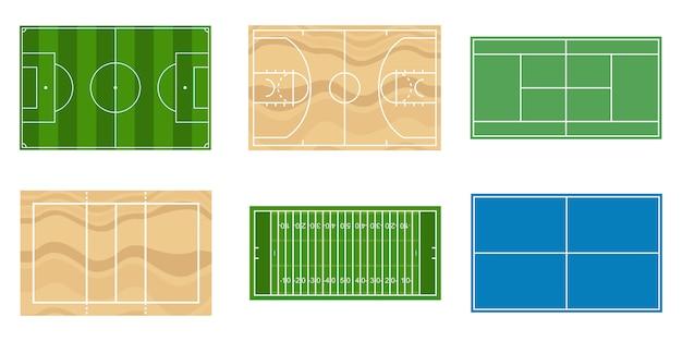Ilustración de campos deportivos