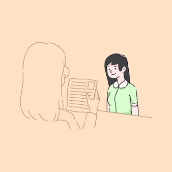 Ilustración de candidatos de contratación