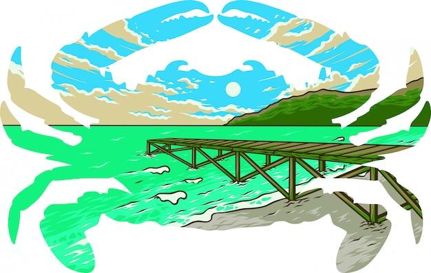 Ilustración de cangrejo de maryland