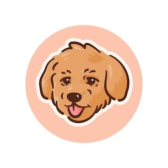 Ilustración de caniche de perro mascota, perfecta para logotipo o mascota
