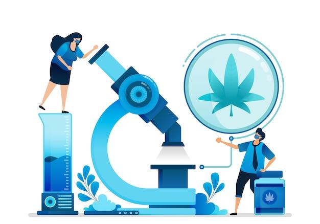 Ilustración de cannabis.