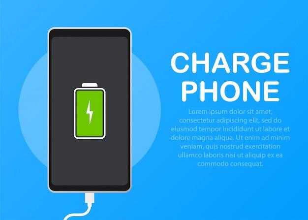 Ilustración con carga de teléfonos móviles.