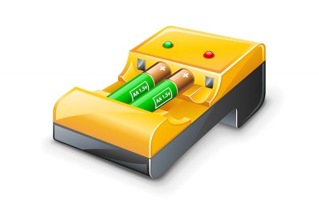 Ilustración de cargador de batería