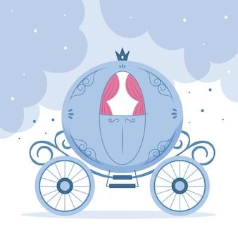 Ilustración del carro de cuento de hadas