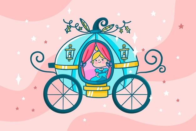 Ilustración de carro de cuento de hadas
