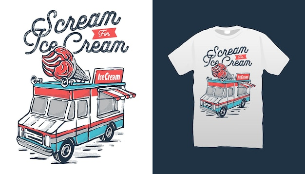 Ilustración de carro de helado
