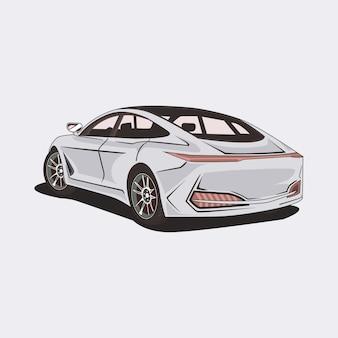 Ilustración de un carro