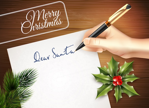 Ilustración de carta de navidad