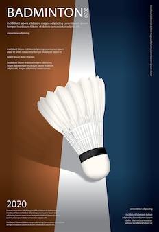 Ilustración del cartel del campeonato de bádminton