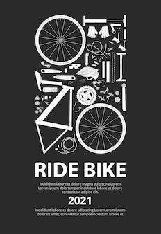 Ilustración de cartel de ciclismo