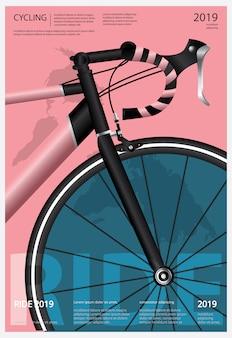 Ilustración del cartel de ciclismo