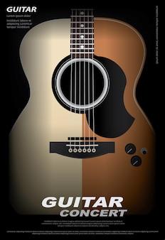 Ilustración de cartel de concierto de guitarra