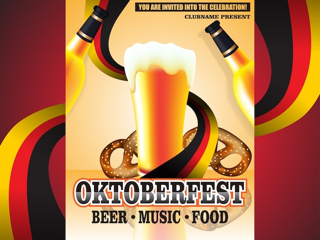 Ilustración de cartel de vector oktoberfest
