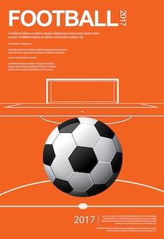 Ilustración de carteles de fútbol soccer