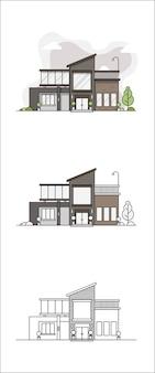 Ilustración de la casa del proyecto al producto