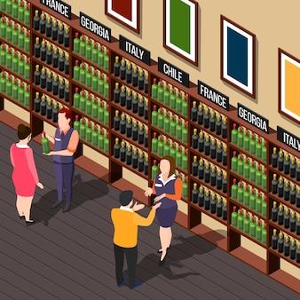 Ilustración de la casa de vinos