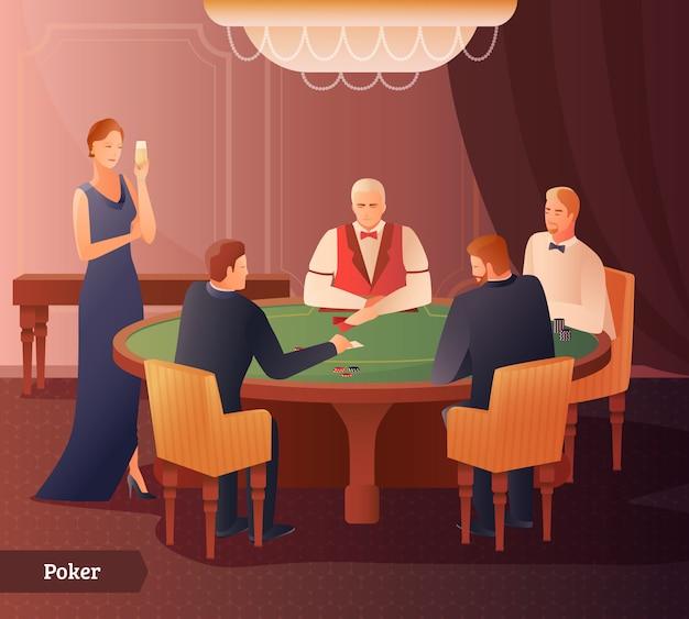 Ilustración de casino y poker
