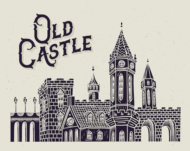 Ilustración de castillo viejo