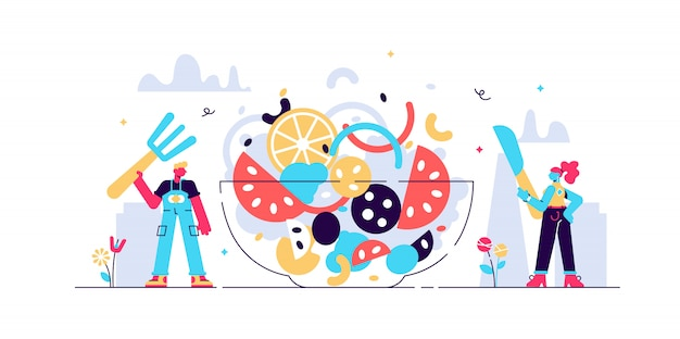 Ilustración de catering.