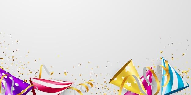 Ilustración de celebración de confeti