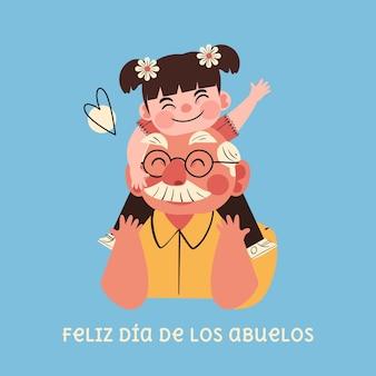 Ilustración de celebración del día de los abuelos.