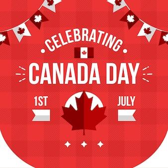 Ilustración de celebración del día de canadá