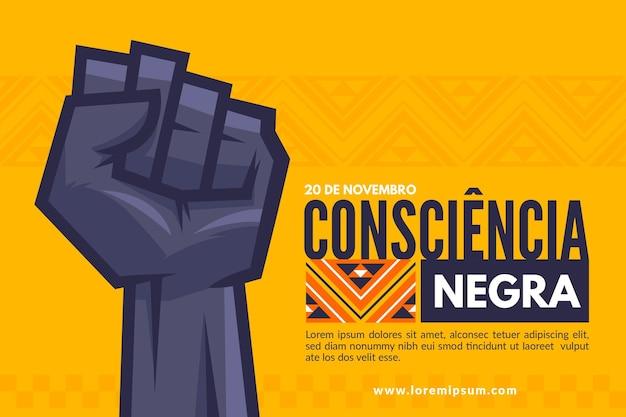 Ilustración de celebración del día de la conciencia negra con puño