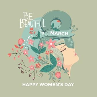 Ilustración de celebración del día de la mujer