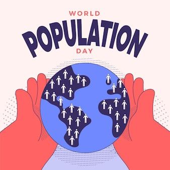 Ilustración de celebración del día mundial de la población