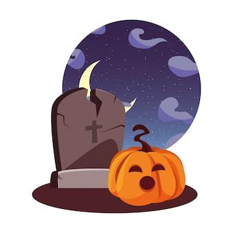 Ilustración de celebración feliz halloween