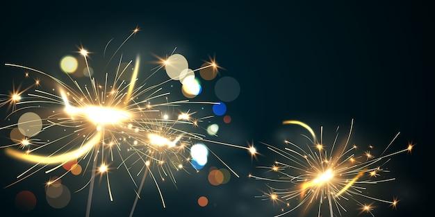 Ilustración de celebración de fuegos artificiales