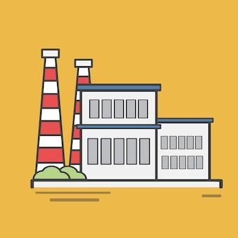 Ilustración de una central eléctrica