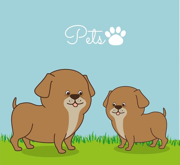 Ilustración del centro de la tienda de mascotas