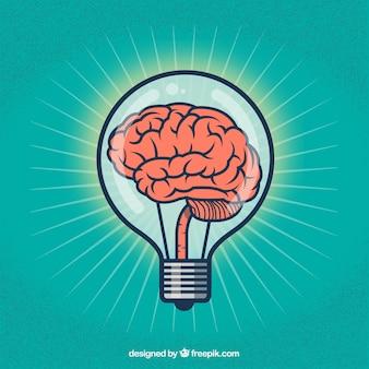 Ilustración de cerebro creativo