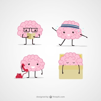 Ilustración de cerebros de dibujos animados