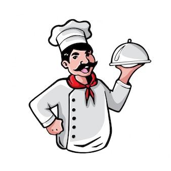 Ilustración de chef profesional