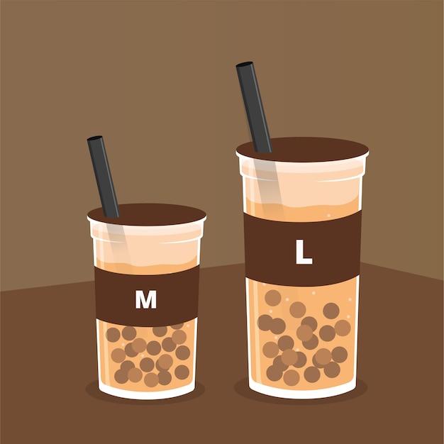 Una ilustración de chocolate boba.